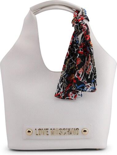 2ba2a140a LOVE MOSCHINO Dámská velká kabelka přes rameno Love Moschino Bílá ...
