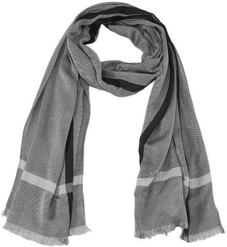 s.Oliver pánský šedý šátek - Glami.cz b48a61da39