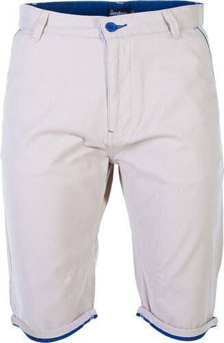 63af65216e2 Ombre Clothing Pánské plátěné kraťasy Claypool béžové - Glami.cz