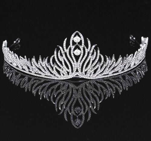 B-TOP Luxusní svatební korunka - tiara SHINY 62438 - Glami.cz bab2e44715