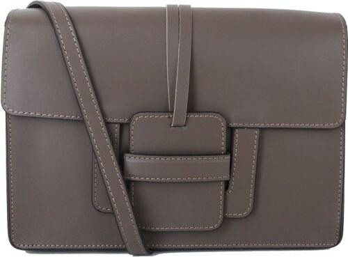 414dcd10fa Talianske crossbody elegantné kožené kabelky taupe Chiara - Glami.sk