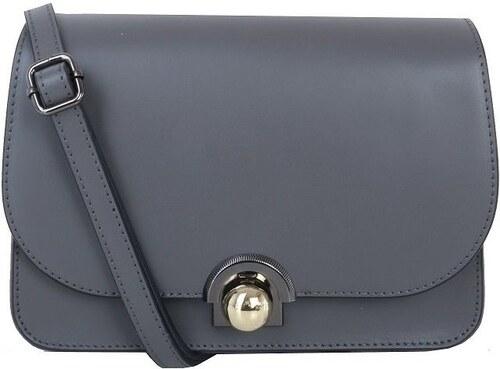 7ac1de19cc TALIANSKE Talianska malá kožená kabelka luxusná crossbody sivá Elisa ...