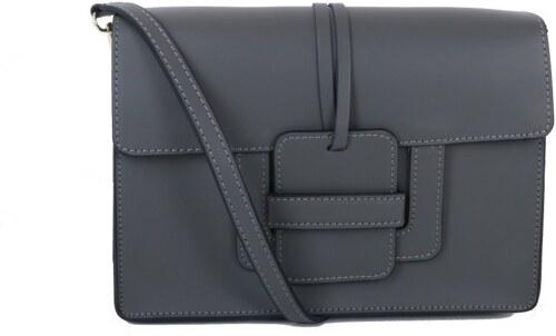 2d62b085bb Kožené kabelky malé Talianske sivé Chiara - Glami.sk