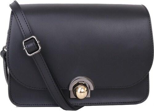 bbd50fdcfe TALIANSKE Talianska malá plesová kožená kabelka luxusná crossbody čierna  Elisa