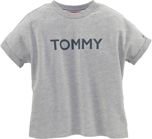 4fe834e25ae Tommy Hilfiger Kids Tričko šedý melír - Glami.cz