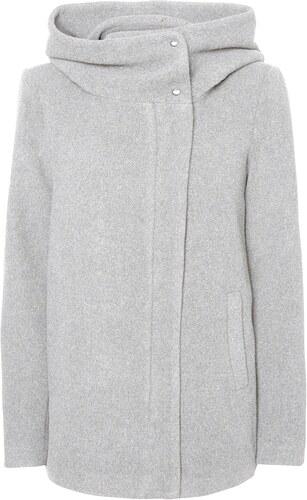 287f20211e Vero Moda krátky kabát »HYPER« sivá melírovaná - Glami.sk