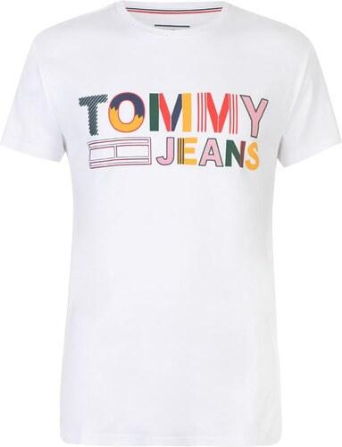 Pánské triko Tommy Hilfiger Jeans Logo T Fun Bílé - Glami.sk b714279d039