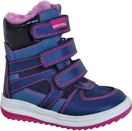 c9f9cfc0a3 Protetika Dievčenské zimné topánky Ebony - modré - Glami.sk