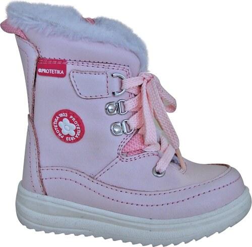 ed76e02c90 Protetika Dievčenské zimné topánky Bory - svetlo ružové - Glami.sk