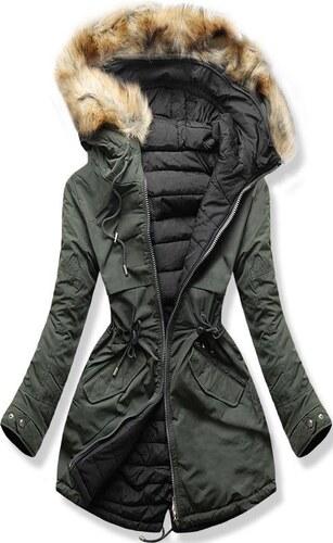 9a0171fb26 MODOVO Női téli kabát kapucnival W212 khaki-fekete - Glami.hu