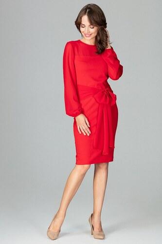 322a87fe355a Dámske šaty Lenitif K494 červené - Glami.sk