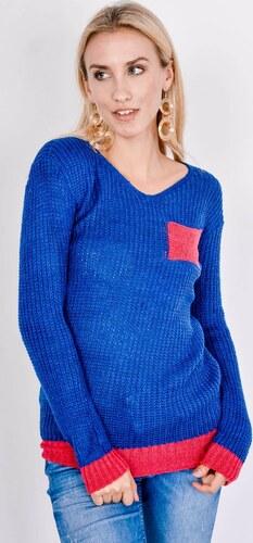 e40b2292a99c BASIC Námornický sveter - kontrastné vrecko SW27 - Glami.sk