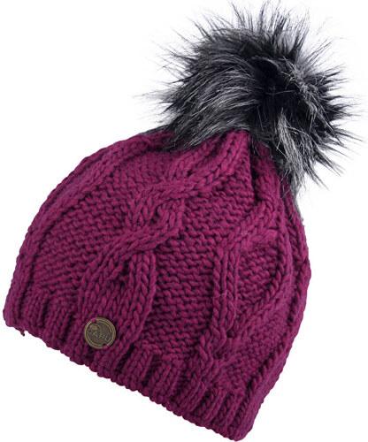 aa94e2057 CAPU Zimná čiapka s brmbolcom Purple 343-C - Glami.sk