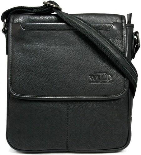 -10% ITALSKÉ Pánské kožené kabelky Always Wild 013-NDM Black černé c62d3014668