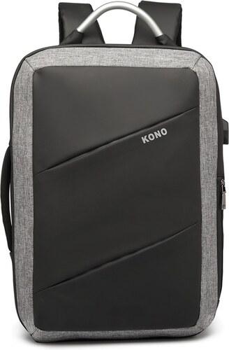KONO luxusní multifunkční černý batoh s USB portem UNISEX - Glami.cz 9431cf99b6