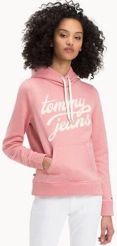 Tommy Hilfiger dámská růžová mikina Basic - Glami.cz 8112deee5e