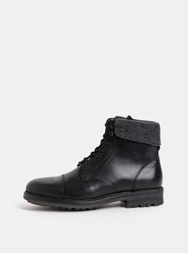4efb5f93c6ec Čierne pánske kožené členkové zimné topánky GANT Nobel - Glami.sk