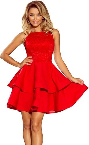 24707a15921f Numoco Červené plesové šaty - Glami.cz
