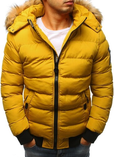 Dstreet Prošívaná zimní bunda v žluté barvě - Glami.cz d8f604b967d