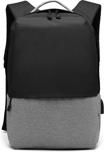 KONO černý elegantní batoh nepromokavý s USB portem UNISEX - Glami.cz 28f5f36714