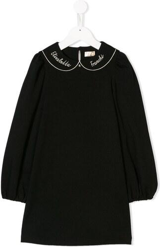 Elisabetta Franchi La Mia Bambina collar dress - Black - Glami.sk 191b7dba54d