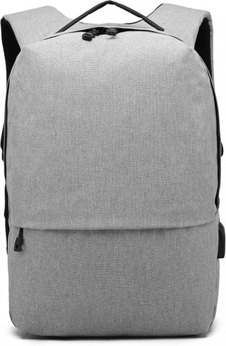 KONO šedý elegantní batoh nepromokavý s USB portem UNISEX - Glami.cz 82e6822ab8
