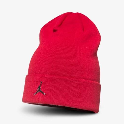 f353a2a7fdc Nike Jordan Čepice Zimní Beanie Cuffed Muži Doplňky Čepice AA1297687 Červená