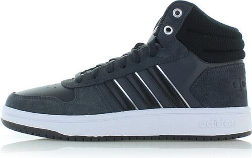 26d079e6d53 -36% adidas CORE Dámské tmavě šedé kotníkové tenisky Hoops 2.0 Mid