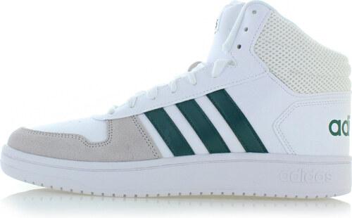 adidas CORE Zöld-fehér férfi magasszárú tornacipő Hoops 2.0 Mid ... 3b6ceb9a75