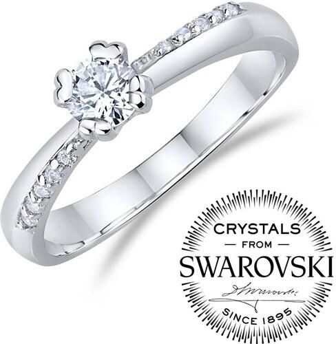 ee094006e Swarovski Crystal Silvego Zásnubní stříbrný prsten se Swarovski Zirconia  FNJ0946RSW