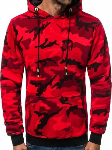 Piros terepmintás kapucnis pulóver OZONEE JS TR15 - Glami.hu 0ed1ed4861