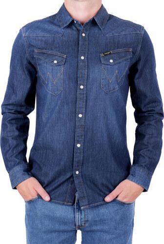 Pánská košile WRANGLER W5974O71E DARK INDIGO Modrá - Glami.cz f0723b9a4b