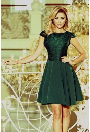 f215691bedc7 Šaty s krajkou Ellie smaragdové NUMOCO 157-9 - Glami.cz