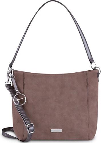 0657907614 Tamaris Dámská kabelka Olympia Hobo Bag S 2894182-395 Dark Brown Comb.
