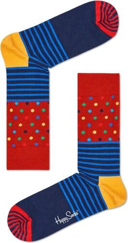 Happy Socks modro-červené ponožky Stripe Dot - 36-40 - Glami.cz fa96a6538c