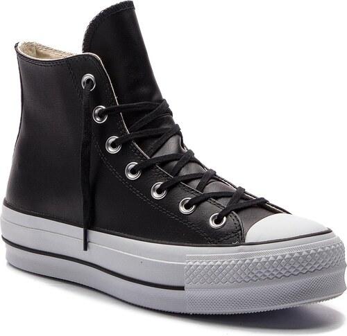 Plátěnky CONVERSE - Ctas Lift Clean Hi 561675C Black Black White ... cfc676d6ad4