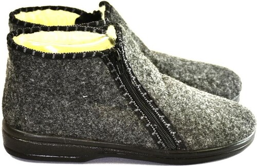 690011fbda09 JOHN-C Pánske sivé zateplené papuče MINRO 40 - Glami.sk