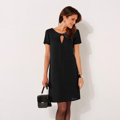 Blancheporte Šaty s krátkými rukávy černá - Glami.cz bf9b5b14ba