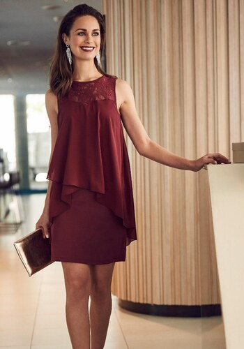 Laura Scott Koktejlové šaty vínově červená - Glami.cz 02b30e84582