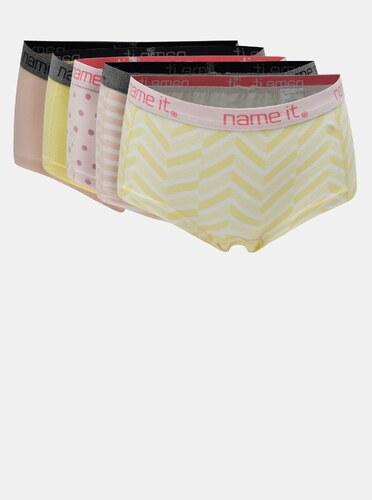 Holčičí kalhotky ve žluté a růžové barvě Name it - Glami.cz eb5352a5df