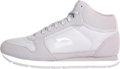 boty Slazenger Classic pánské Hi Tops Grey White - Glami.cz 39ac87edf55