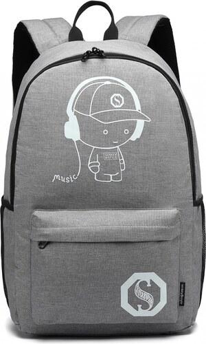 KONO šedý batoh nepromokavý ec04039f73