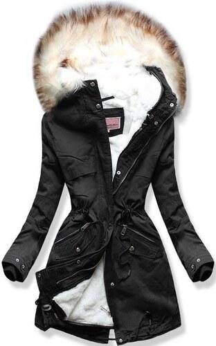 c4ace026ac Butikmoda Téli parka kabát, levehető béléssel - fekete színű - Glami.hu