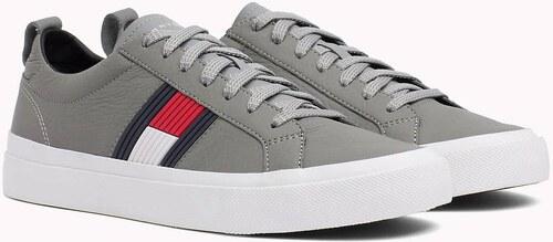 fce9f8b151 Tommy Hilfiger sivé kožené pánske tenisky Flag Detail Sneaker - Glami.sk