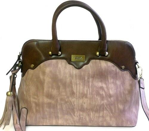 5b9e0ec335 Verde Luxusní hnědá kabelka ze syntetické kůže - Glami.cz