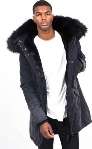 Pánska čierna bunda na zimu Sixth June Tie Dye Parka - Glami.sk d96100dc390