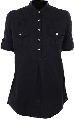 Dámská černá košile s krátkým rukávem Timeout - Glami.cz 773fa65fe9