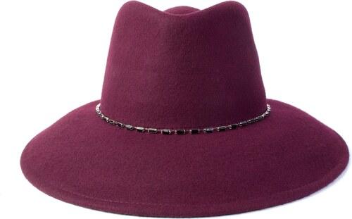 28ee1bb2ae8 coxes Vlněný klobouk s řetízkem bordó - Glami.cz