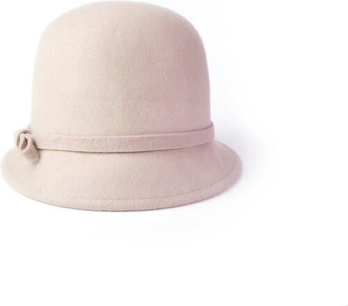 Vlněný klobouk s mašličkou béžový Ystrdy - Glami.cz 9777da8928