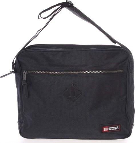 6fc7a2451a Černá kabela přes rameno na doklady a notebook - Enrico Benetti Adam černá